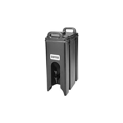 Cambro Camtainer 4 3/4 Gallon Beverage Carrier, Black (500LCD110)
