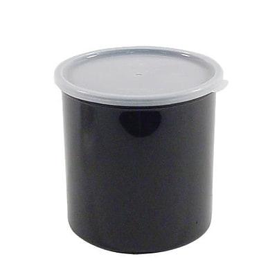 Cambro 1.2 Qt.. Black Crock with Lid, 5 2/7