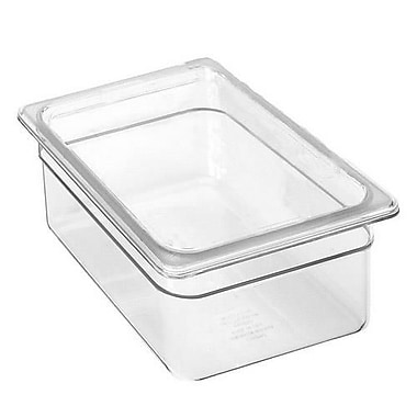 Cambro 1/2 Size Clear Plastic Food Pan, 7 3/4