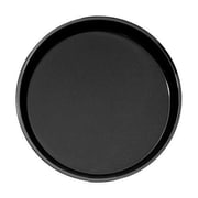 "Cambro Camtread 18"" Round Black serving Tray, 25 11/16"" L x 17 13/16"" W, Black, 6/Pack (1800CT110)"