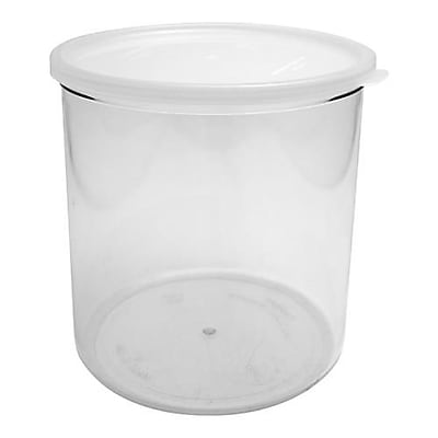 Cambro 2.7 Qt. Clear Crock with Lid, 6 7/8