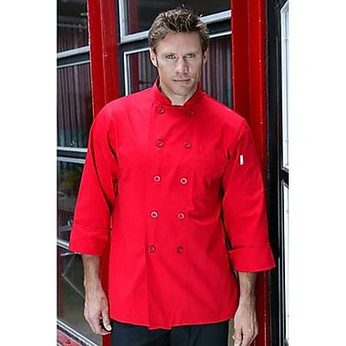 Chef Works Nantes Red Chef Coat, Small (REPC-RED-S)