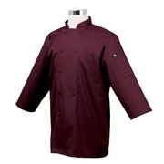 Chef Works 3/4 Sleeve Coat, Merlot, Medium, (JLCL-MER)