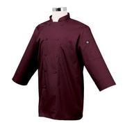 Chef Works 3/4 Sleeve Coat, Merlot, XL (JLCL-MER)