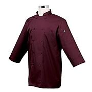 Chef Works 3/4 Sleeve Coat, Merlot, Large (JLCL-MER)