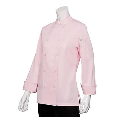 Chef Works Women's Marbella Pink Chef Coat, Large (CWLJ-PIN-L)