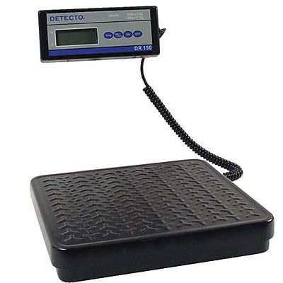 Detecto Digital Receiving Scale, 150 Lb., Red, 12