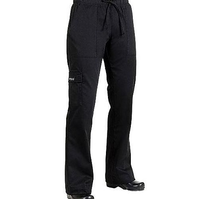 Chef Works Women's Cargo Chef Pants, Black, Large (CPWO-BLK-L)