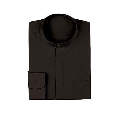 Chef Works Banded-Collar Shirt, Black, Large (B100-BLK-L)