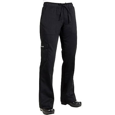 Chef Works Women's Cargo Chef Pants, Black, Medium (CPWO-BLK-M)