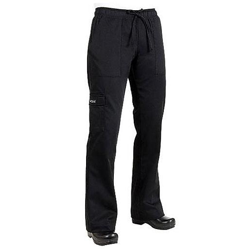 Chef Works Women's Cargo Chef Pants, Black, Medium (CPWO-BLK-M)