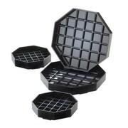 "Cal-Mil 4"" x 4"" Black Octagon Drip Tray (308-4-13)"