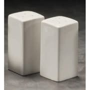 "American Metalcraft 3 1/4"" Square Ceramic Salt & Pepper Set (CSPS3)"