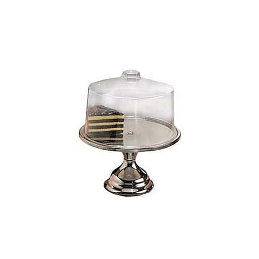 """American Metalcraft 13 1/2"""" Stainless Steel Cake Stand & Cover Set (19SET)"""