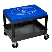 Go Boxes Mustang Mechanic Industrial Stool w/ Cushion