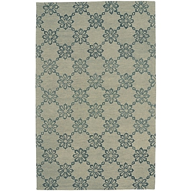 Capel Kevin O'Brien Link Hand Tufted Green Area Rug; 5' x 8'