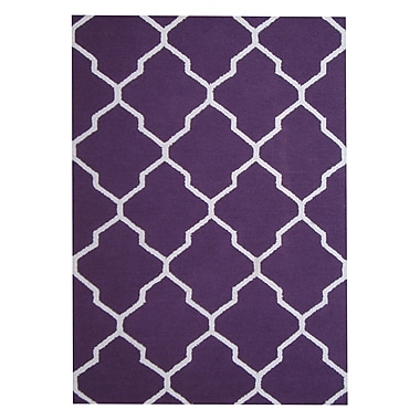 Herat Oriental Hand-Tufted Purple/Ivory Indoor Area Rug
