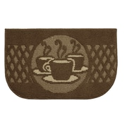 Structures Textured Loop Day Time Coffee Wedge Slice Kitchen Area Rug