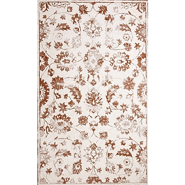 Dynamic Rugs Avalon Hand-Tufted Ivory/Rust Area Rug; Rectangle 3'3'' x 5'3''