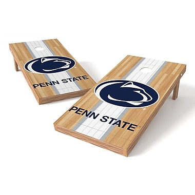 Tailgate Toss NCAA Hardwood Cornhole Game Set; Penn State Nittany Lions