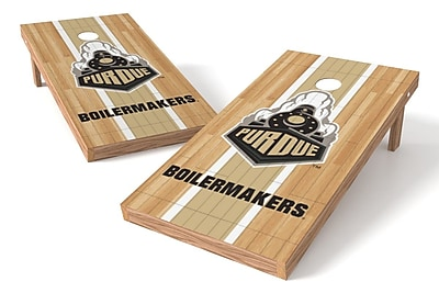 Tailgate Toss NCAA Hardwood Game Cornhole Set; Purdue Boilermakers