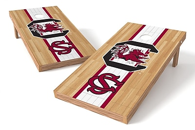 Tailgate Toss NCAA Hardwood Game Cornhole Set; South Carolina Cocks