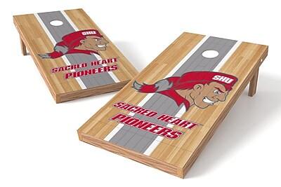 Tailgate Toss NCAA Hardwood Game Cornhole Set; Sacred Heart Pioneers