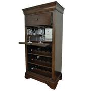 RAM Game Room Bar Cabinet w/ 15 Bottle Wine Bar; Cappuccino