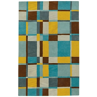 Capel Left Bank Hand-Tufted Blue/Yellow Area Rug; 8' x 11'
