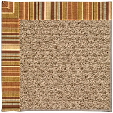 Capel Zoe Machine Tufted Button Mushroom/Brown Indoor/Outdoor Area Rug; Rectangle 7' x 9'