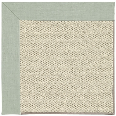 Capel Inspirit Linen Machine Tufted Minty/Beige Area Rug; Rectangle 7' x 9'