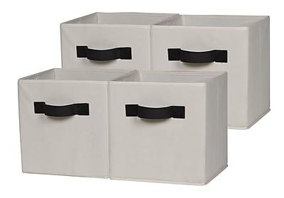 OneSpace Foldable Cloth Storage Cube (Set of 4); Beige