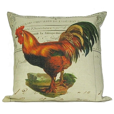 Golden Hill Studio Tail Rooster Throw Pillow