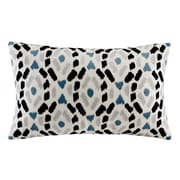 Ink + Ivy Auden Embroidered Lumbar Pillow; Blue