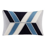 Ink + Ivy Aero Embroidered Lumbar Pillow; Blue
