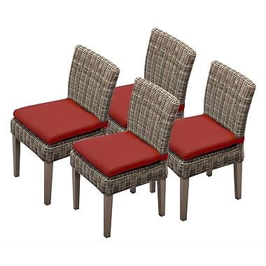 TK Classics Cape Cod Dining Side Chair w/ Cushion (Set of 4) (Set of 4); Terracotta