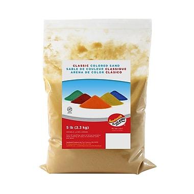Sandtastik® Classic Coloured Sand, 5 lb (2.3 kg) Bag, Gold, 6/Pack