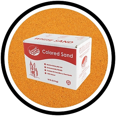 Sandtastik® Classic Coloured Sand, 10 lb (4.5 kg) Box, Gold, 3/Pack
