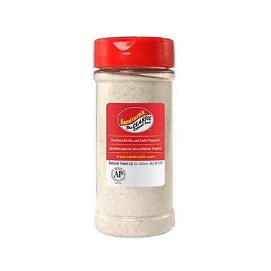 Sandtastik Classic Coloured Sand, 14 oz (396 g) Bottle, White, 8/Pack
