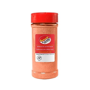 Sandtastik® Classic Coloured Sand, 14 oz (396 g) Bottle, Salmon, 8/Pack