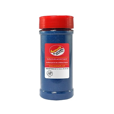 Sandtastik® Classic Coloured Sand, 14 oz (396 g) Bottle, Blue, 8/Pack