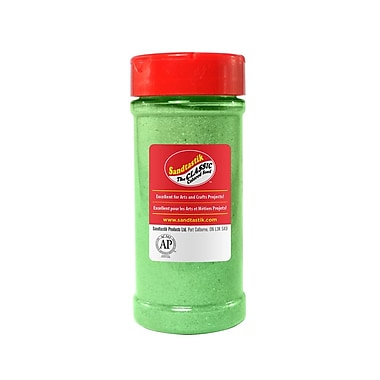 Sandtastik Classic Coloured Sand, 14 oz (396 g) Bottle, Fluorescent Green, 8/Pack