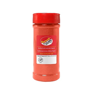 Sandtastik® Classic Coloured Sand, 14 oz (396 g) Bottle, Coral, 8/Pack