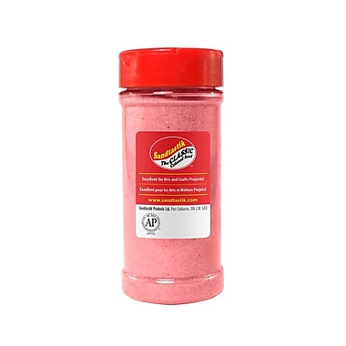 Sandtastik® Classic Coloured Sand, 14 oz (396 g) Bottle, Bubblegum Pink, 8/Pack