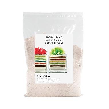 Sandtastik Floral Coloured Sand, 5 lb (2.3 kg) Bag, Natural, 6/Pack