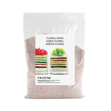 Sandtastik® Floral Coloured Sand, 5 lb (2.3 kg) Bag, Light Silver, 6/Pack