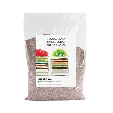 Sandtastik® Floral Coloured Sand, 5 lb (2.3 kg) Bag, Light Grey, 6/Pack