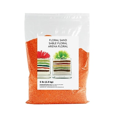 Sandtastik Floral Coloured Sand, 5 lb (2.3 kg) Bag, Orange, 6/Pack