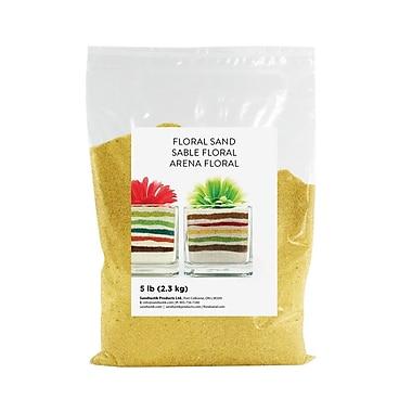 Sandtastik® Floral Coloured Sand, 5 lb (2.3 kg) Bag, Banana, 6/Pack