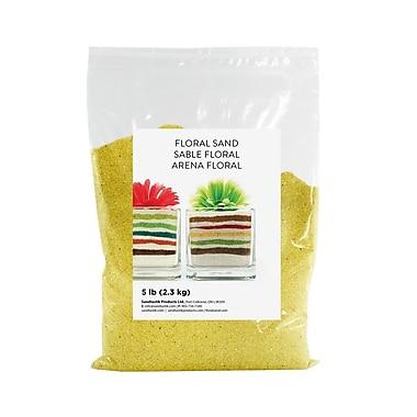 Sandtastik® Floral Coloured Sand, 5 lb (2.3 kg) Bag, Yellow, 6/Pack